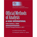 Official Methods of Analysis 18th Ed (Revision 4, 2011)