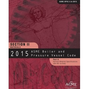 BPVC Section II-Materials-Part A-Ferrous Materials Specifications (2 Volumes) - BPVC-IIA - 2015